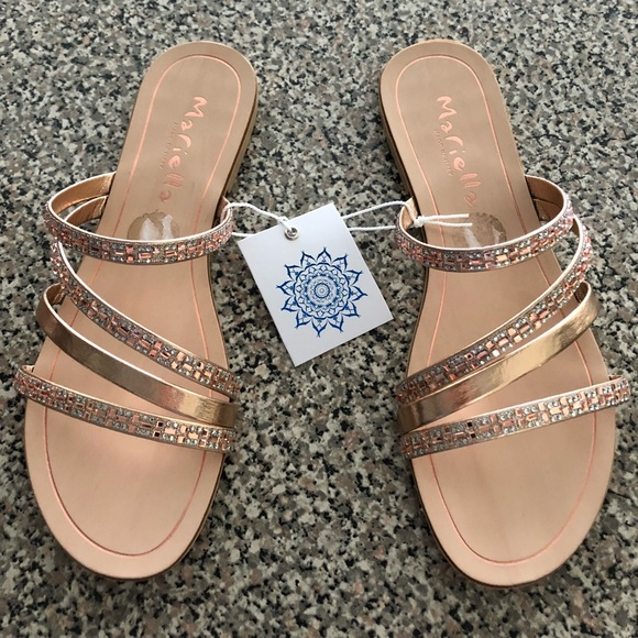 294c493127d5 Mariella (made in Italy) Rose Gold Sandals size 8
